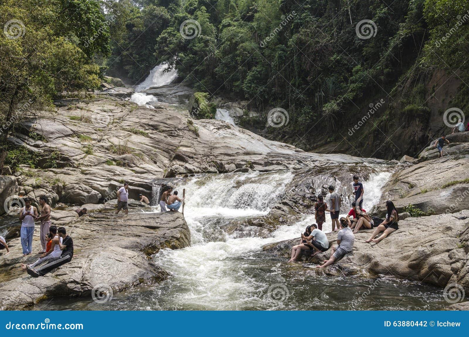 Chamang vattenfall, Bentong, Malaysia