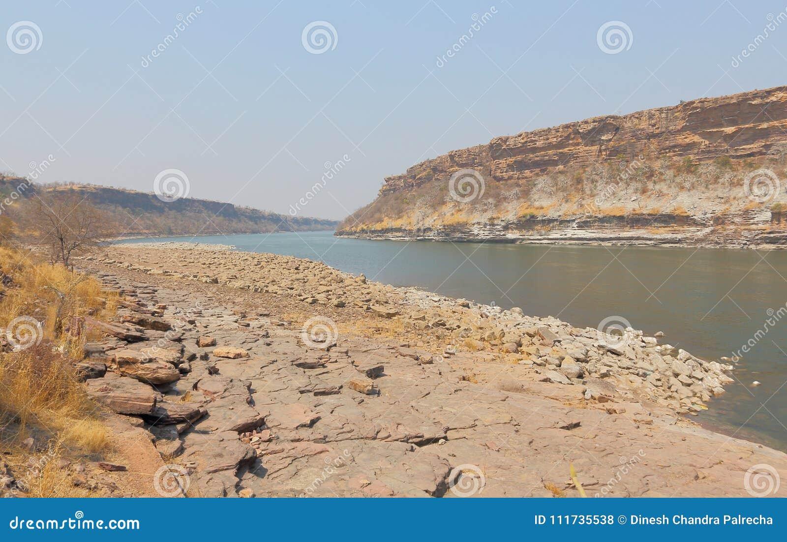 Chambal-Fluss an gandhi sagar Verdammung, Madhya Pradesh, Indien