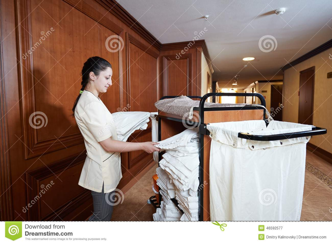 Chambermaid at hotel stock image image of girl for Chambre de service