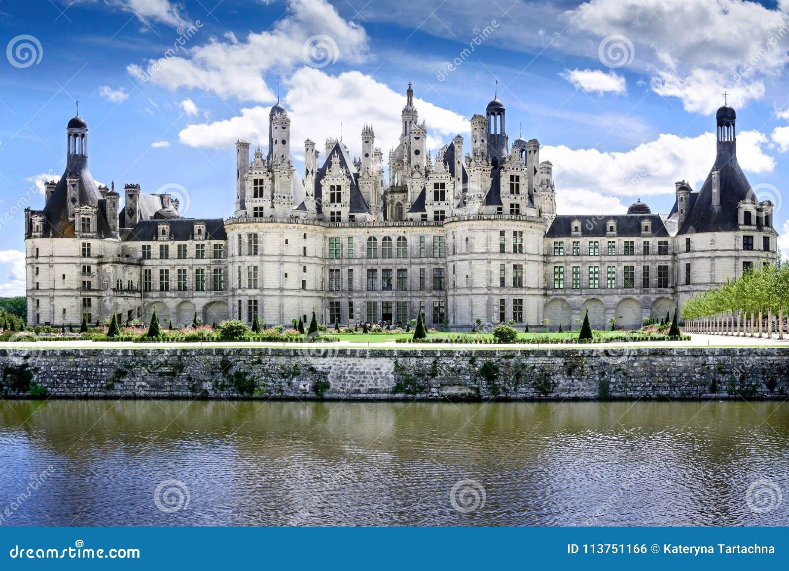 Chambord, Loir y Cher, Francia, el 14 de agosto de 2017, castillo francés Chambord T