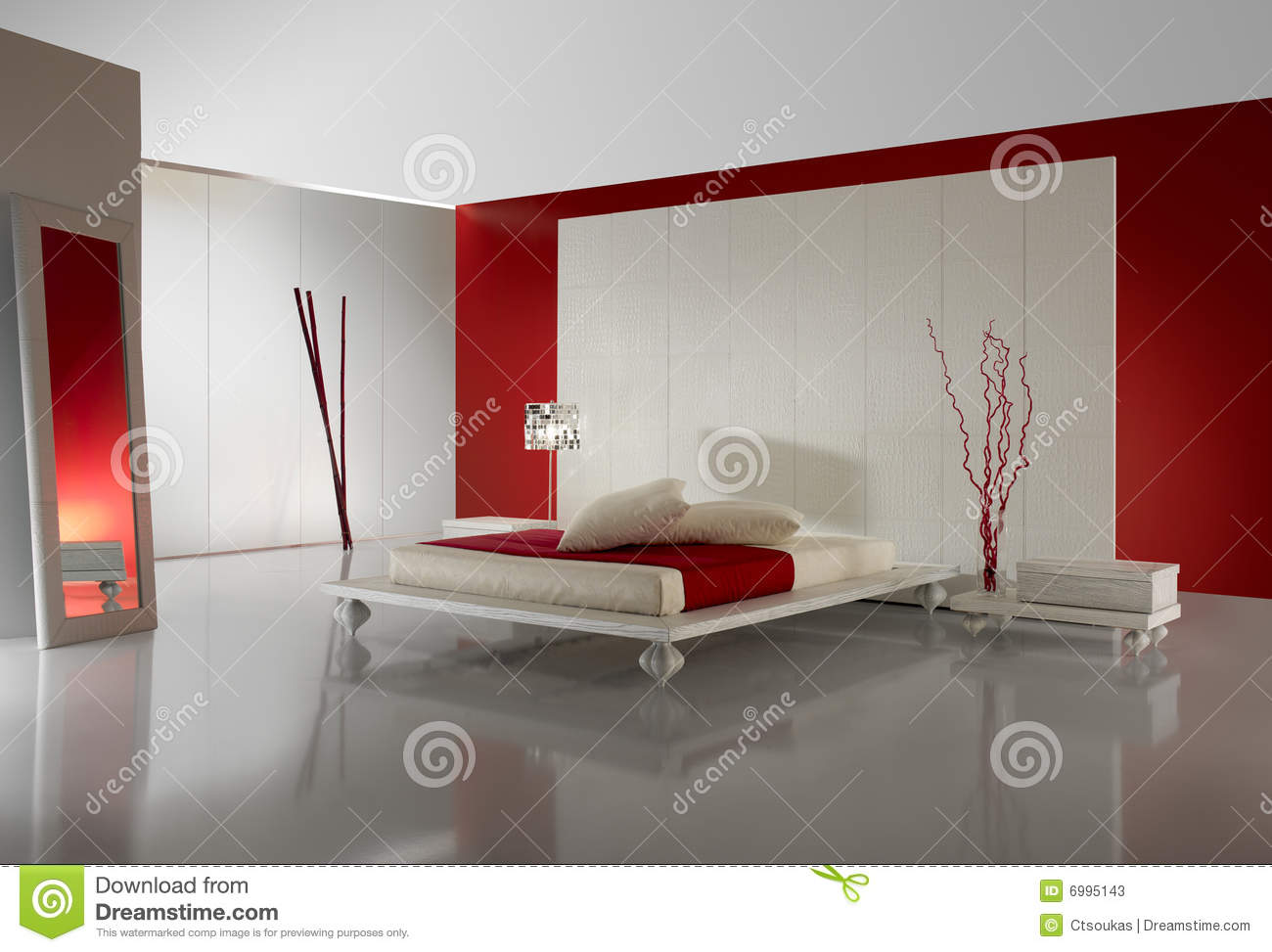 Chambre taupe et rouge for Chambre luxueuse