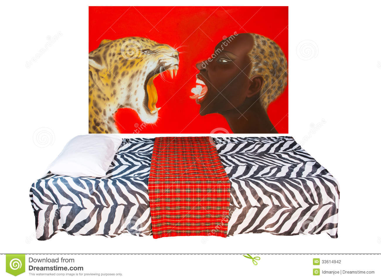 Chambre à Coucher Africaine De Style Photo stock - Image du bedroom ...