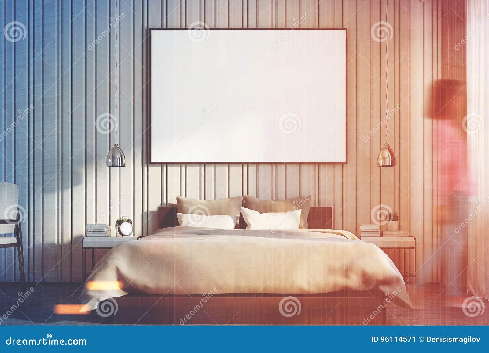 Chambre à Coucher Beige Avec Une Grande Fin D Affiche, Fille