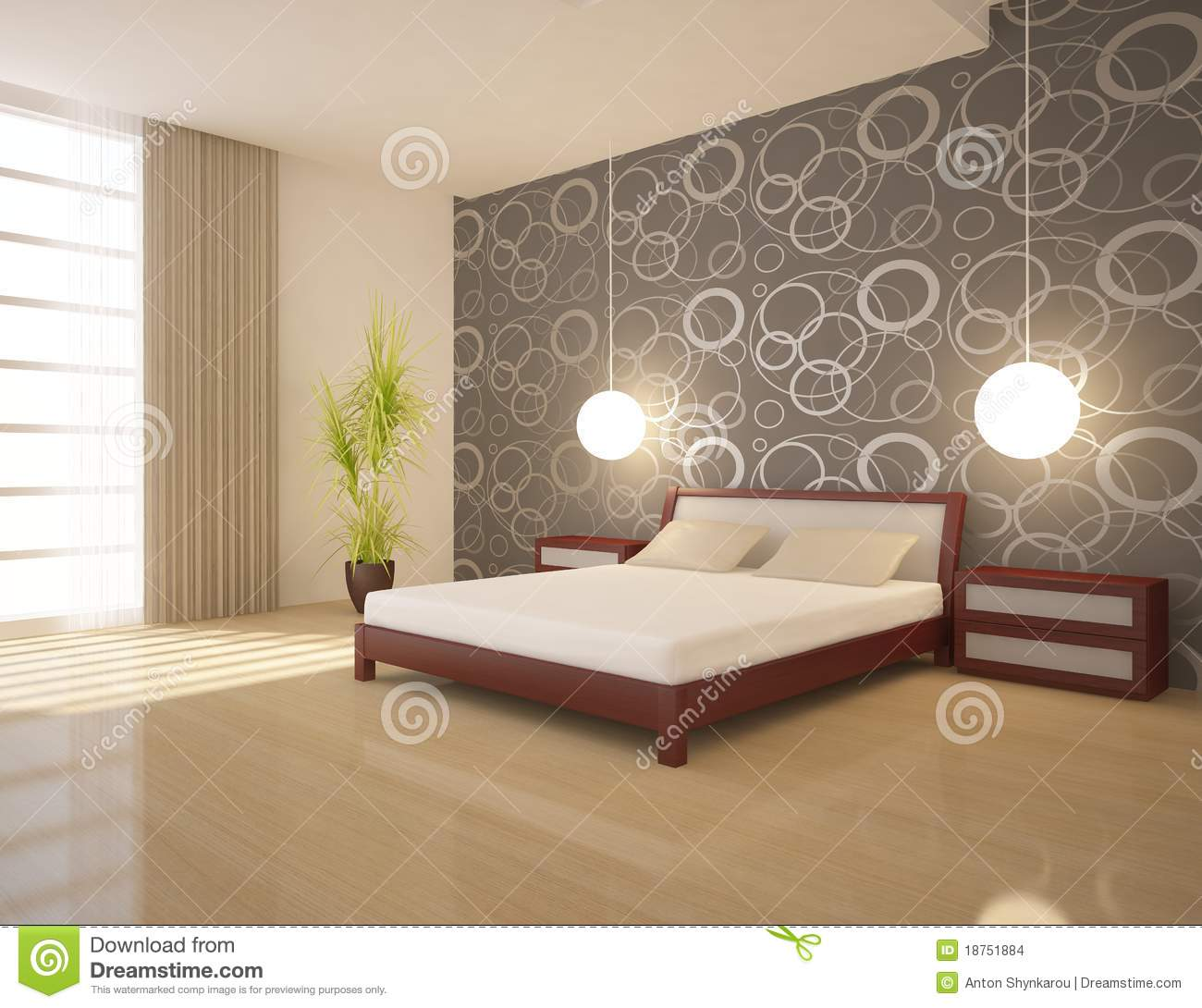 Chambre coucher blanche images stock image 18751884 for Chambre a coucher blanche