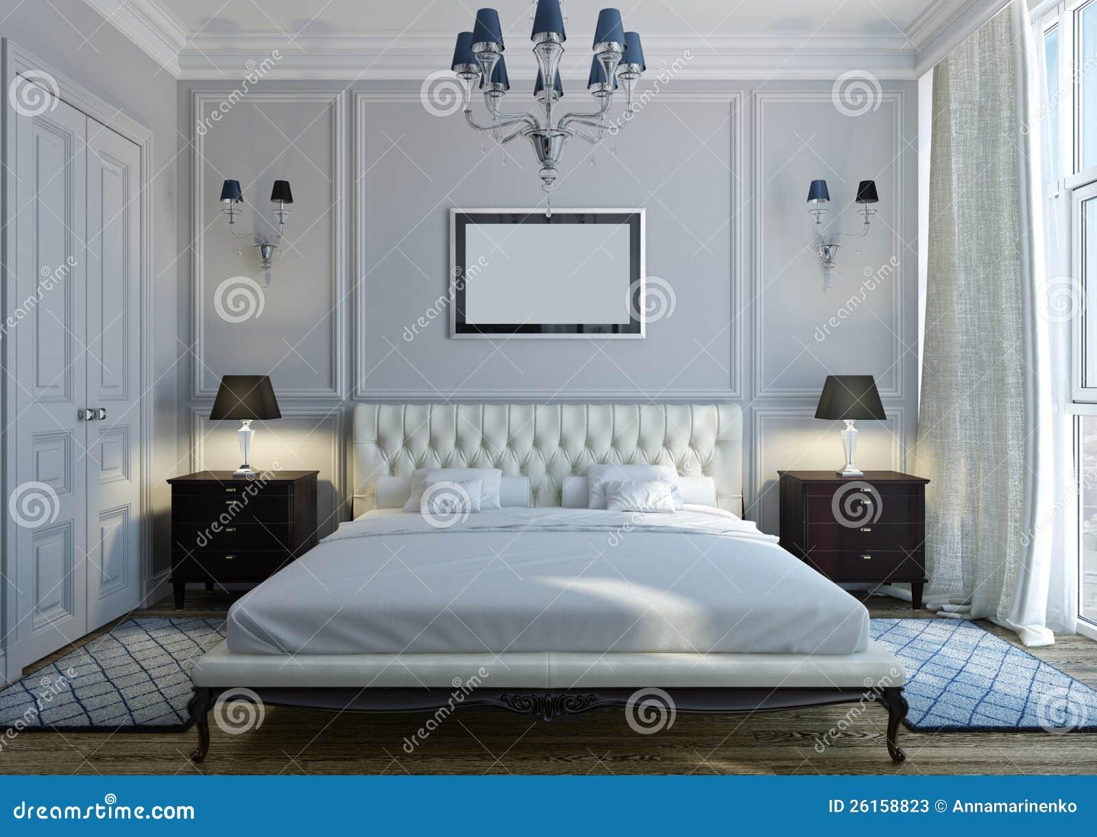 Chambre coucher classique photos stock image 26158823 Chambre a coucher classique chic