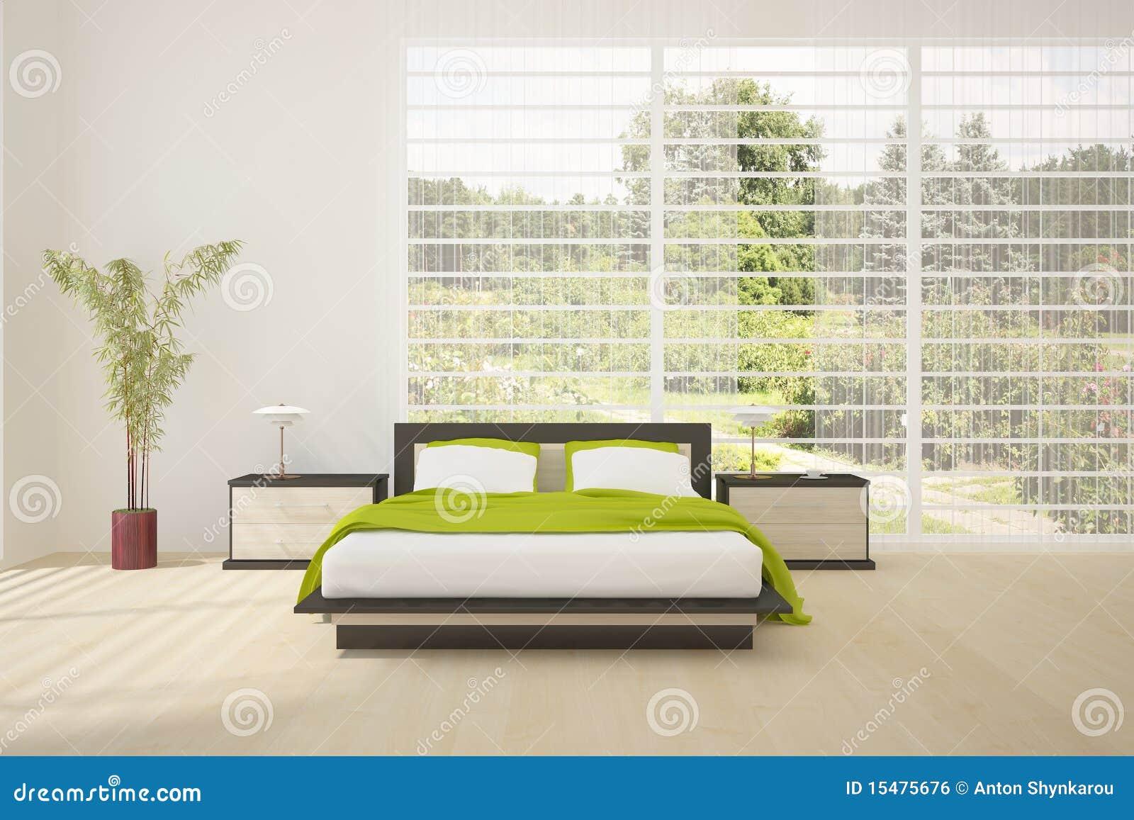 Chambre à Coucher Colorée Intérieure Avec Les Meubles Modernes ...