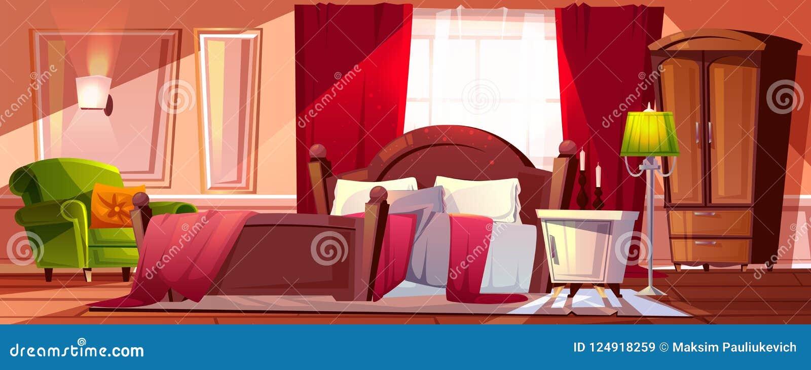 Chambre A Coucher Dans L Illustration De Vecteur De Desordre De Matin Illustration De Vecteur Illustration Du Vecteur Coucher 124918259