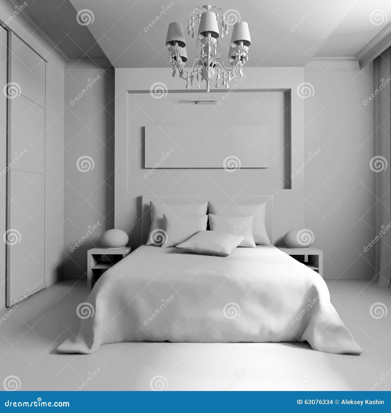 Download Chambre à Coucher Dans Le Style Contemporain Photo stock - Image du couverture, construction: 63076334