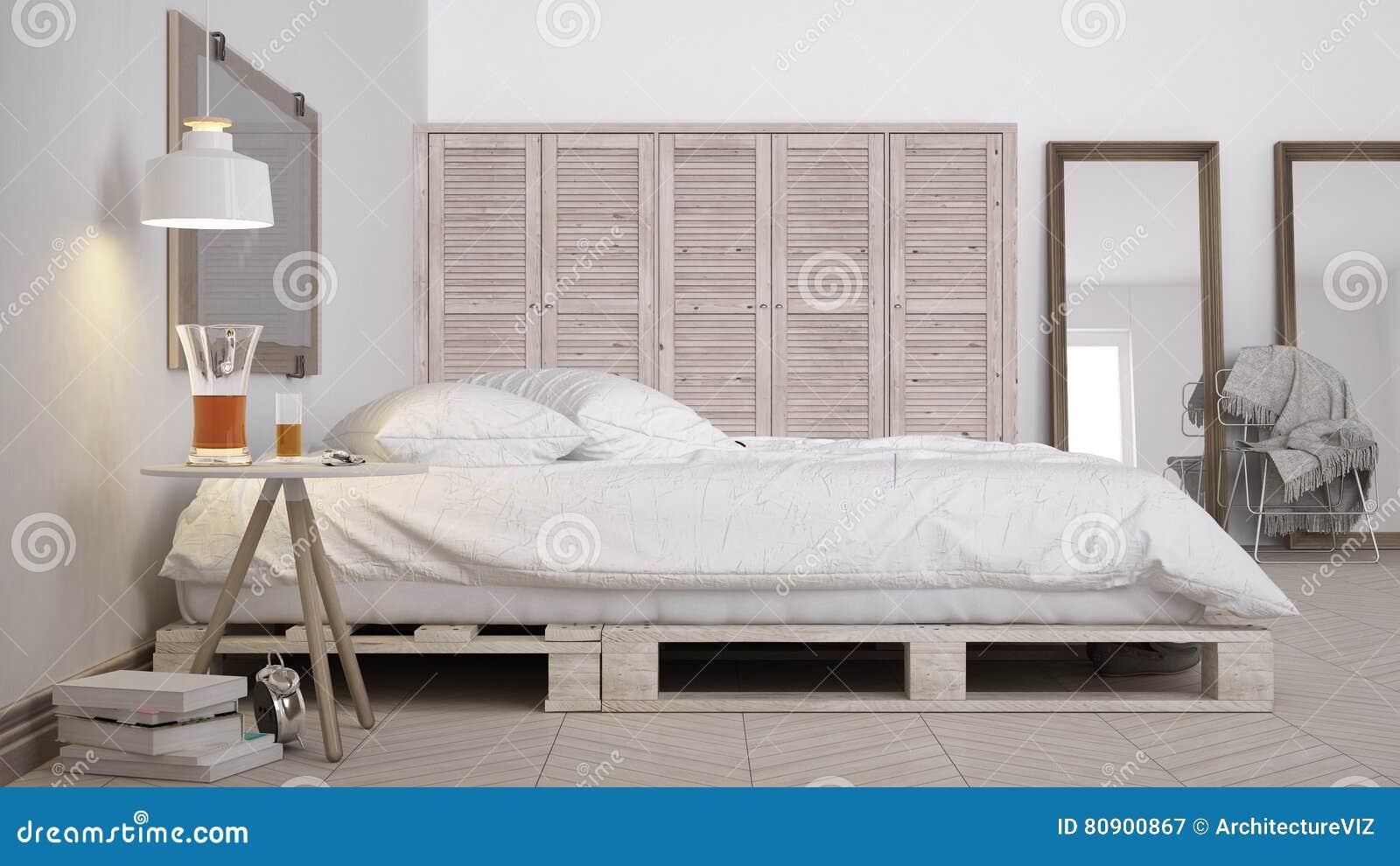 Chambre à Coucher De DIY, Conception Chic D\'eco Blanc Scandinave ...