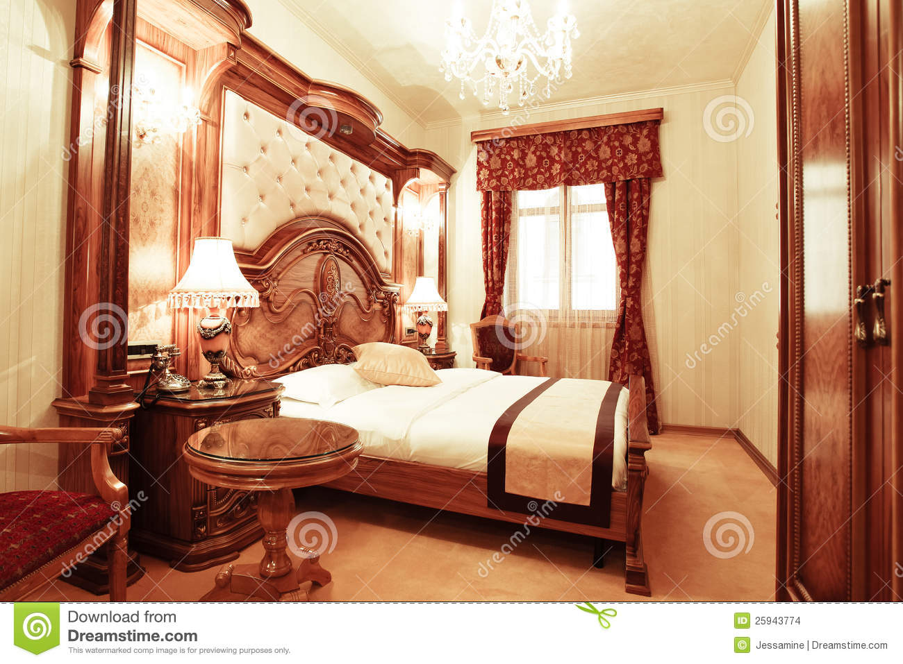 chambre coucher de luxe photo stock image du h tel 25943774. Black Bedroom Furniture Sets. Home Design Ideas