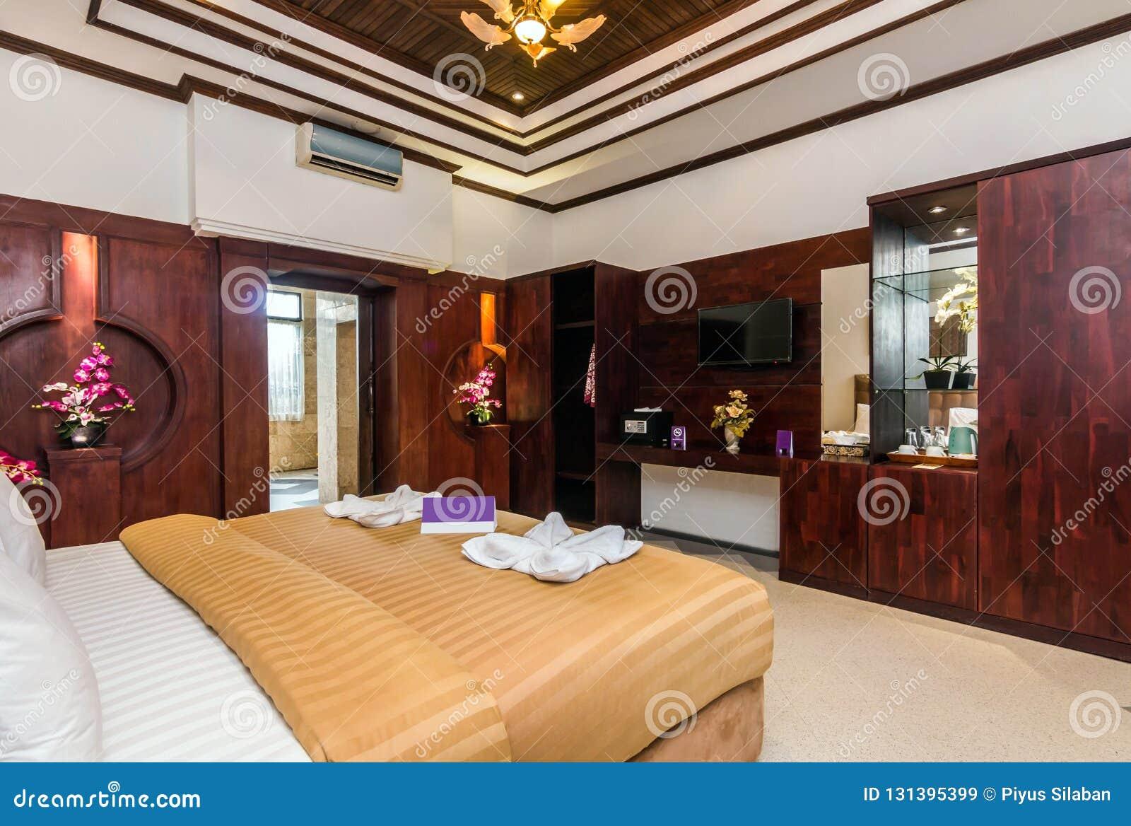 Chambre à coucher de luxe superbe d hôtel