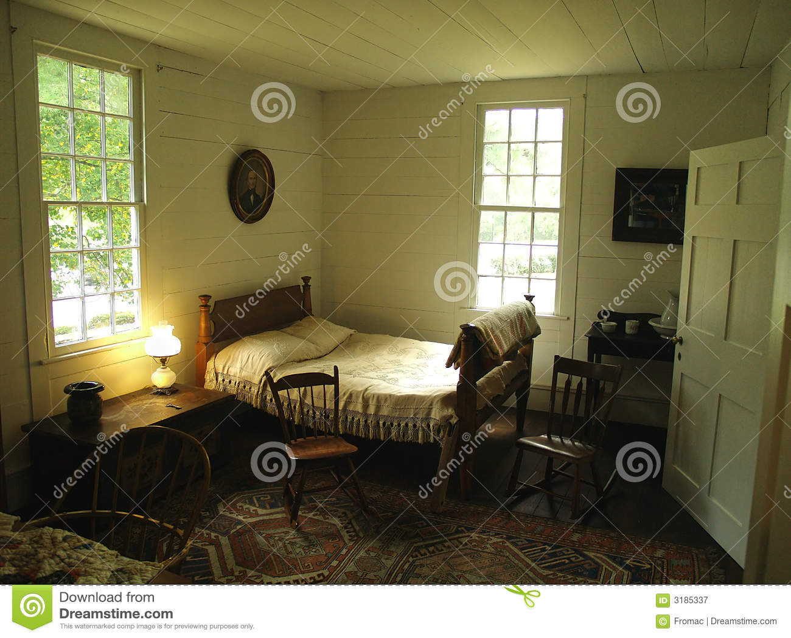 Chambre Coucher De Plantation Photographie Stock Libre
