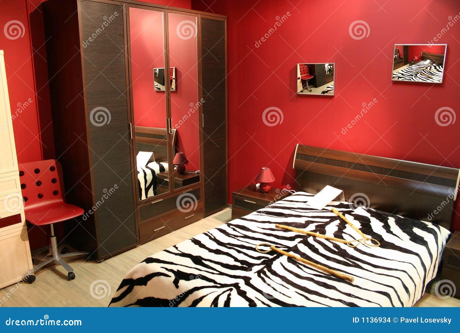 chambre coucher de rouge de piste - Chambre A Coucher Rouge