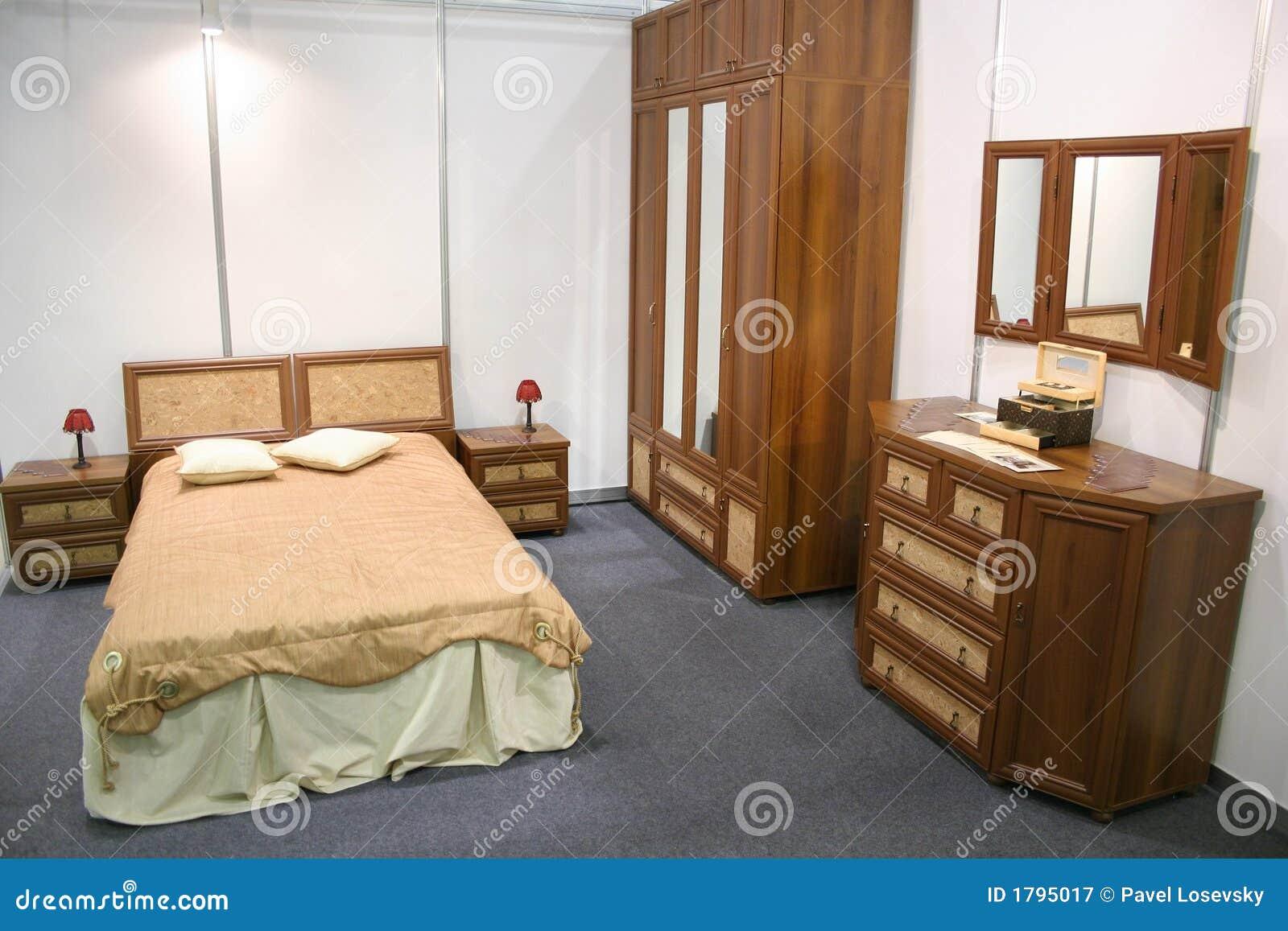 Chambre Coucher En Bois Photographie Stock Libre De