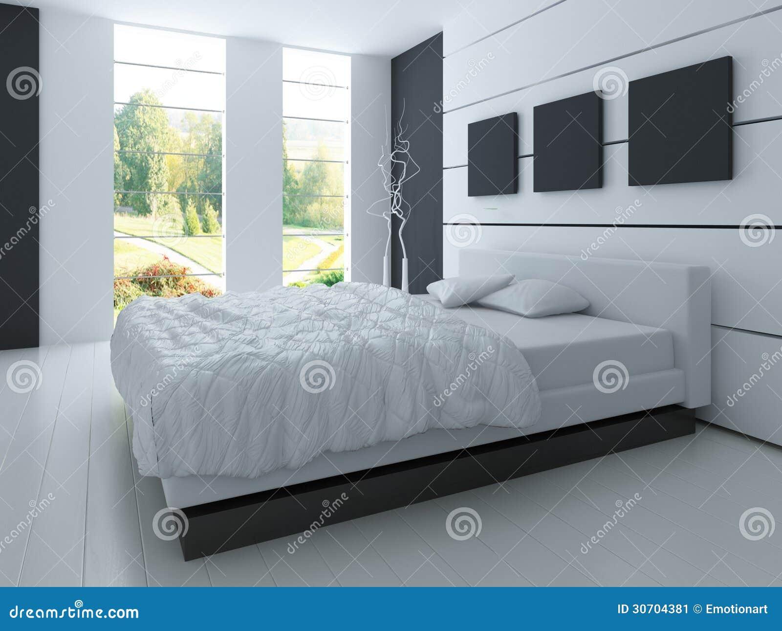 Chambre coucher exclusive de conception architecture de l 39 int rieur 3d illustration stock for Conception chambre
