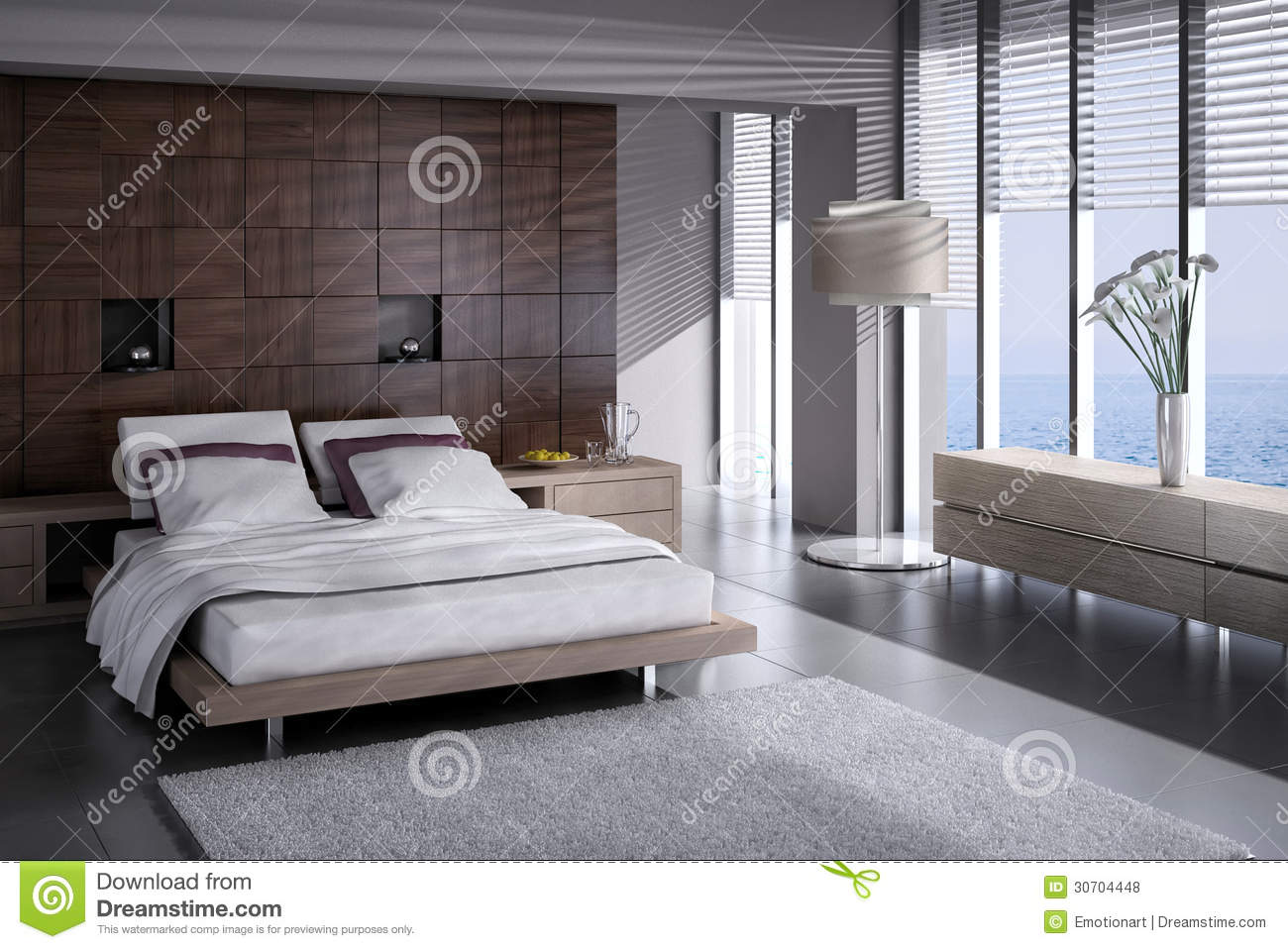 Chambre coucher exclusive de conception architecture for Conception interieur