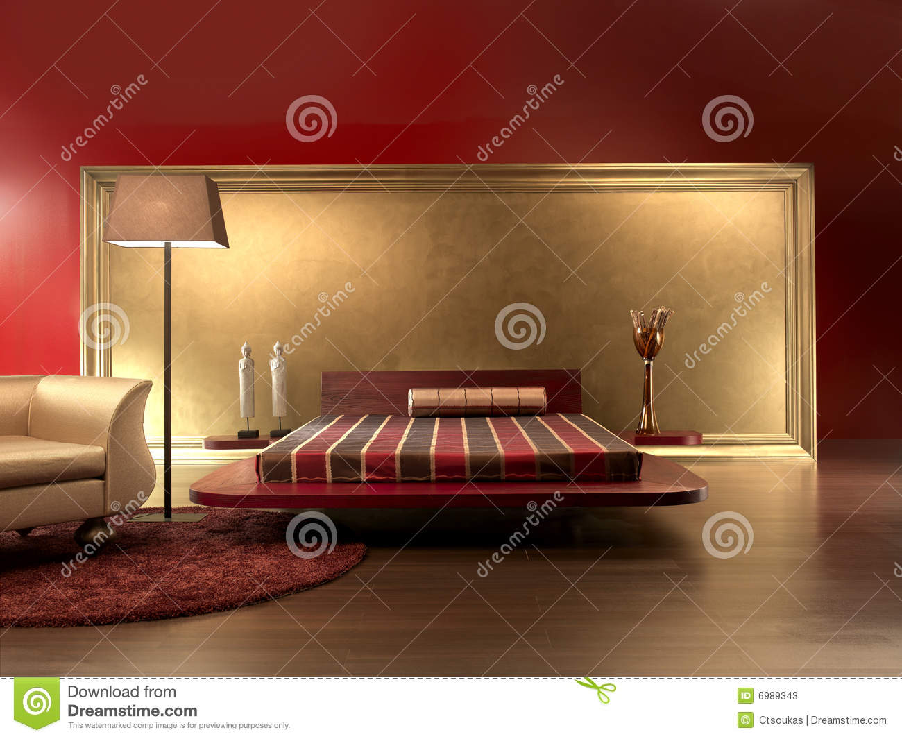 Chambre coucher luxueuse image stock image du int rieur for Chambre luxueuse