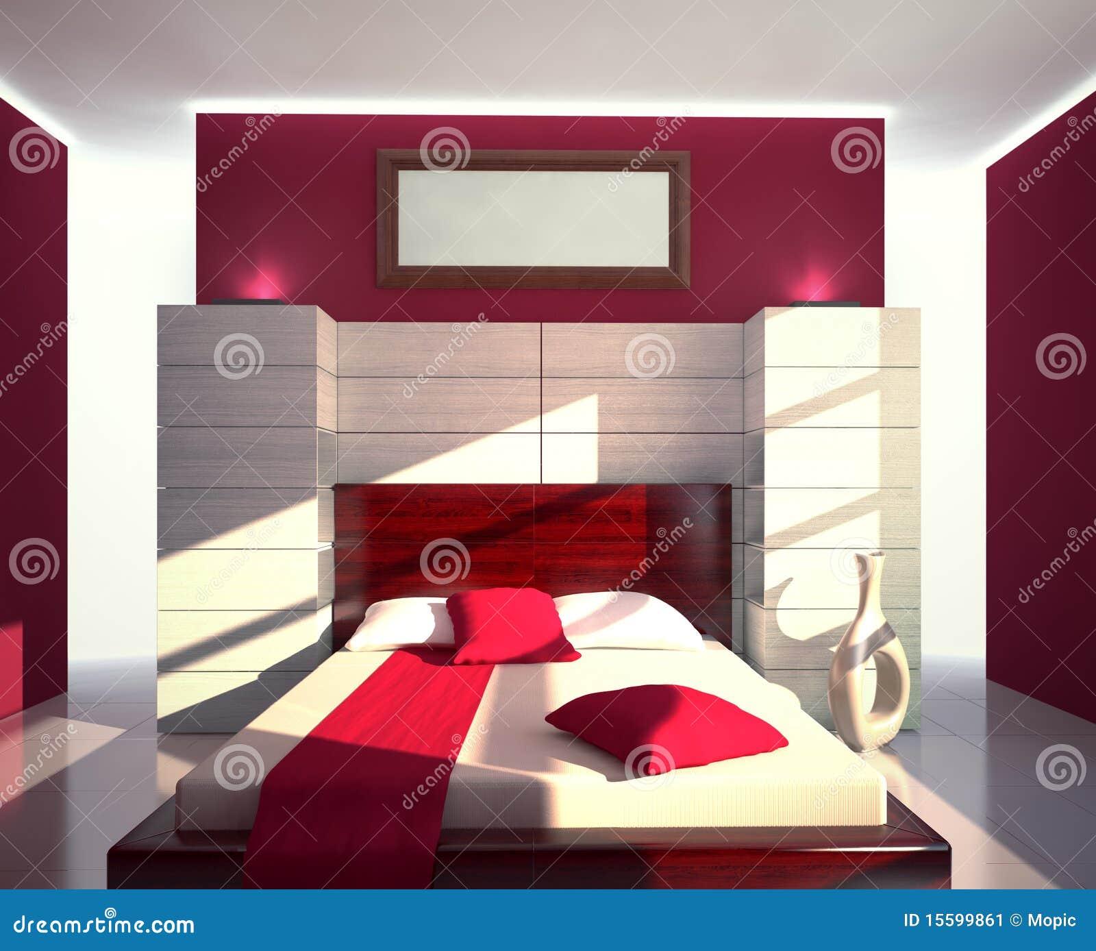 Chambre à coucher moderne illustration stock. Illustration ...