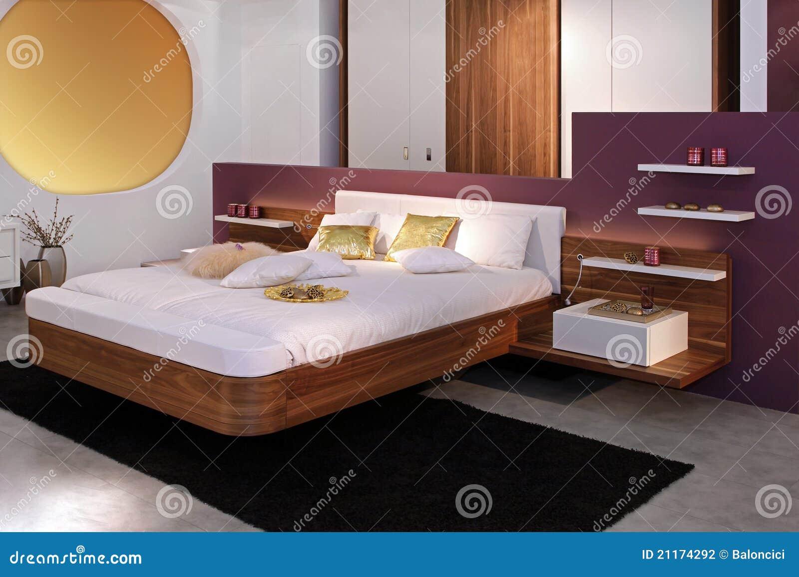 Chambre à coucher moderne photo stock. Image du intérieur - 21174292