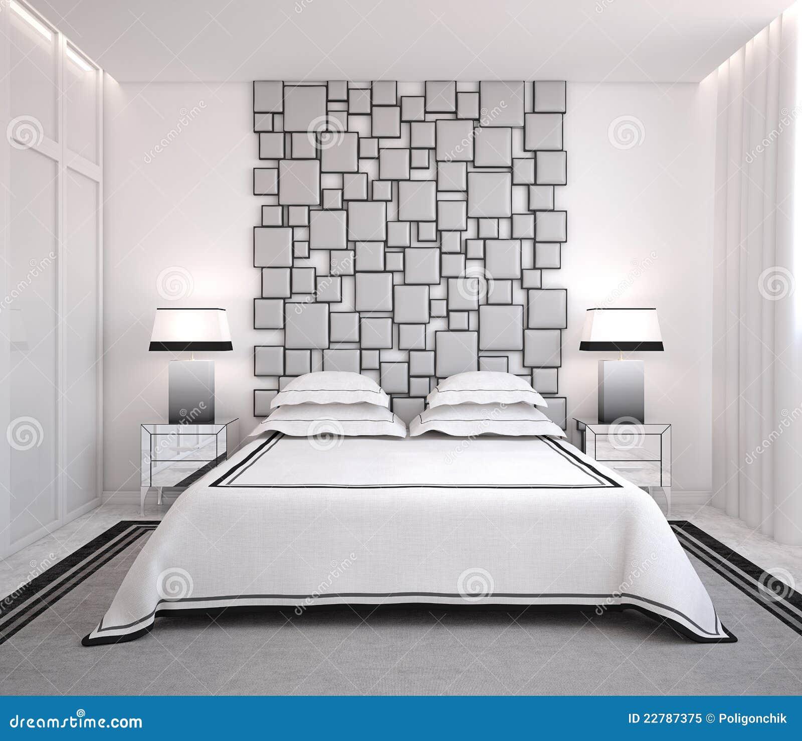 Chambre à coucher moderne.