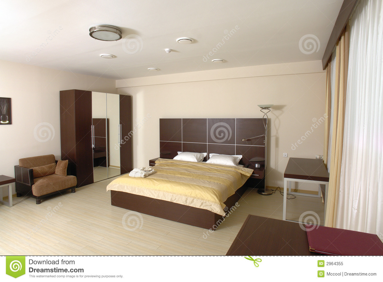 Chambre coucher moderne photo libre de droits image 2964355 for Photo chambre a coucher