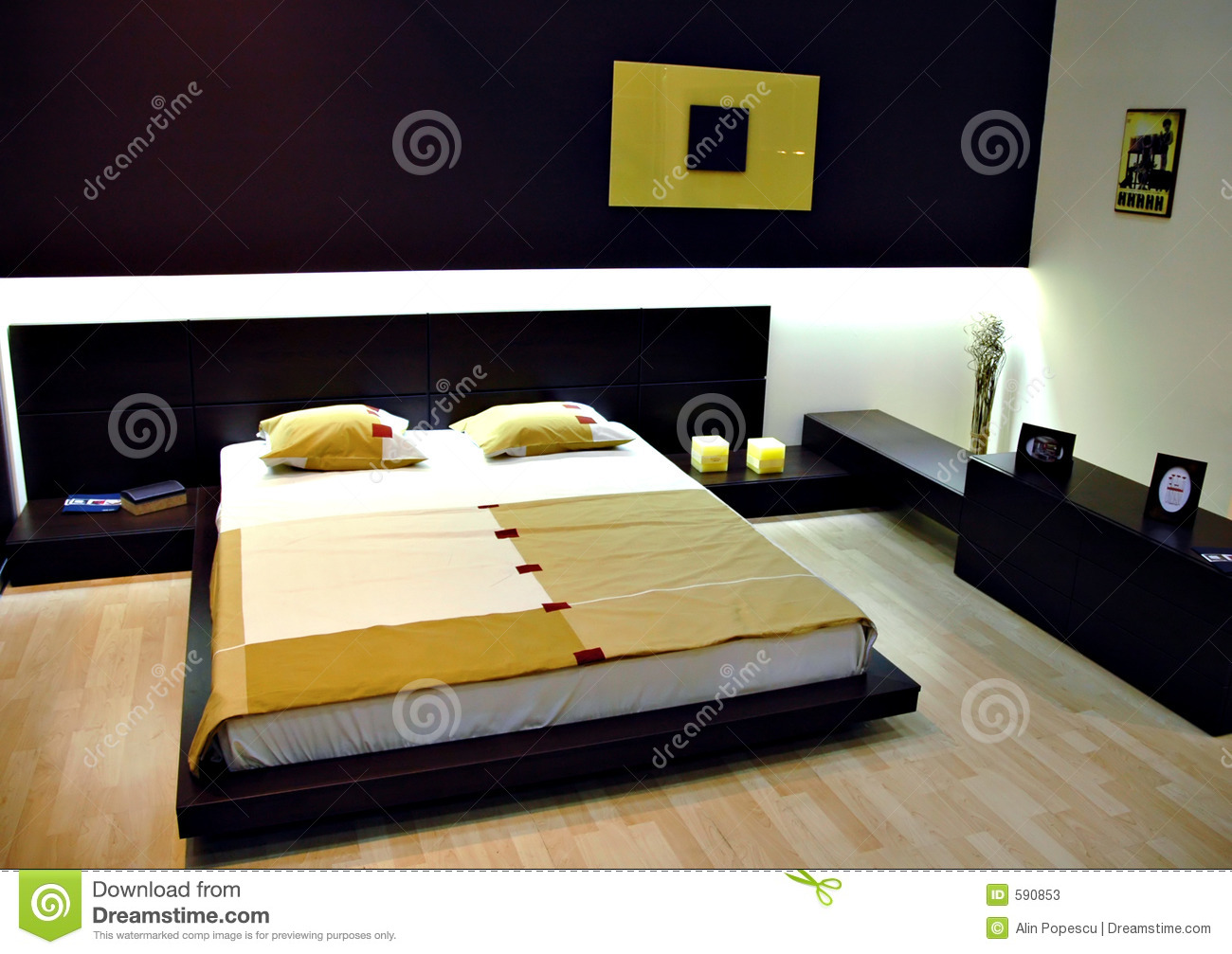 Chambre coucher moderne photos stock image 590853 for Photo de chambre a coucher moderne