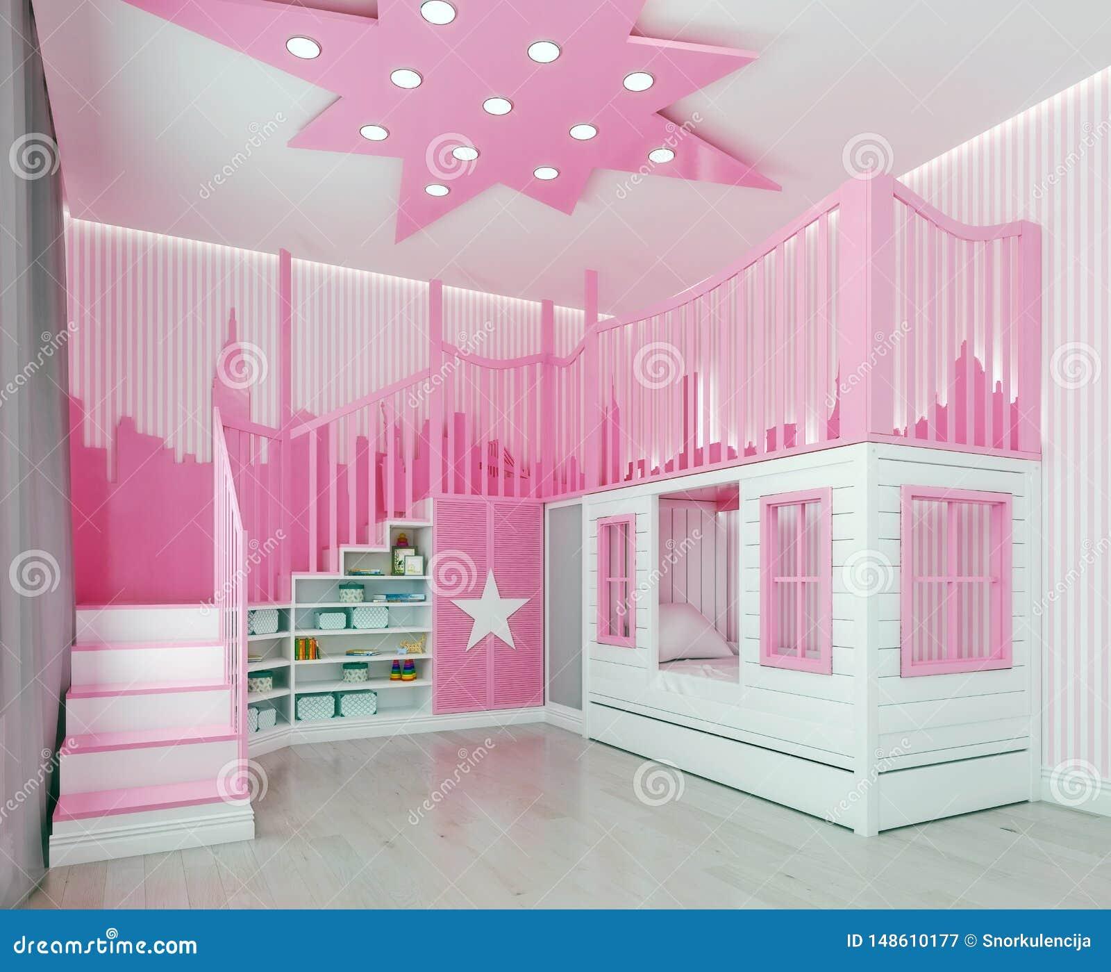 Jeux De Décoration De Salle De Bain chambre à coucher moderne d'enfants de conception intérieure