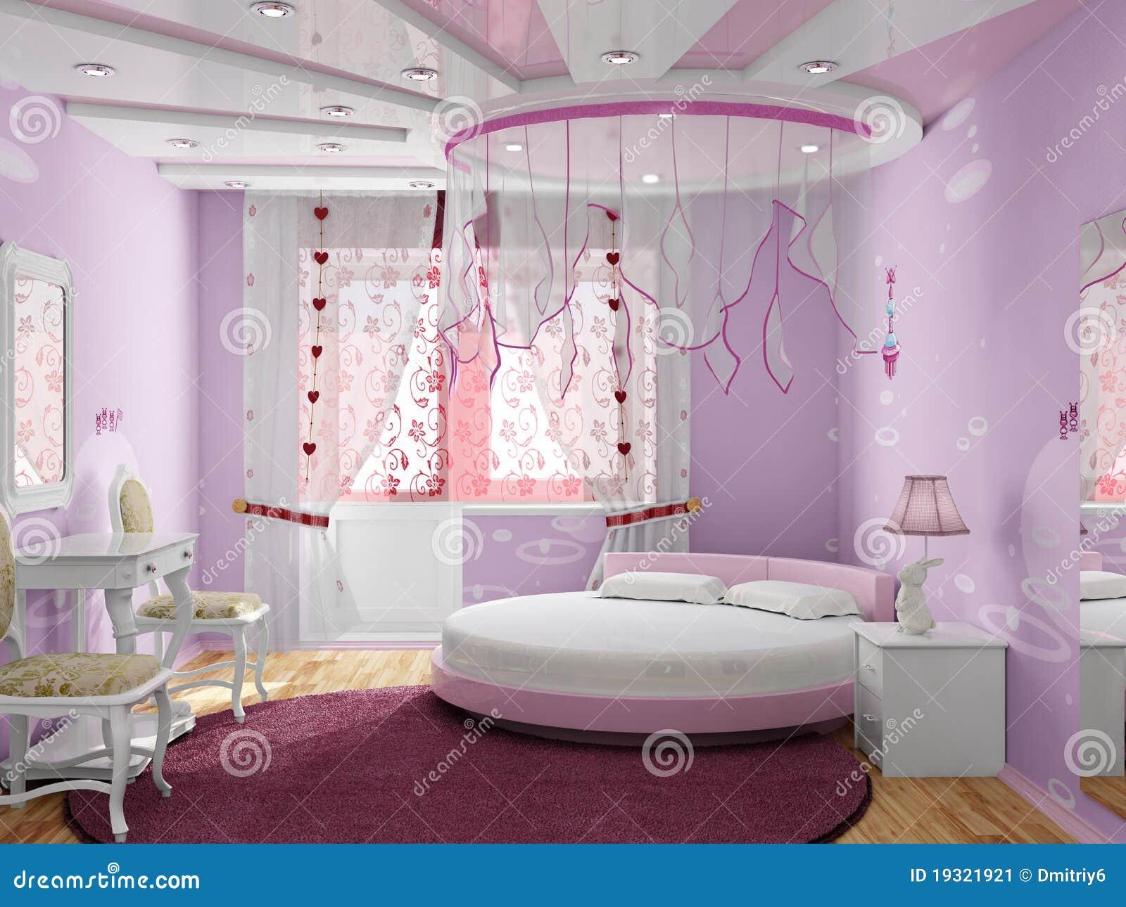 Chambre à Coucher Pour La Fille Illustration Stock - Image: 19321921