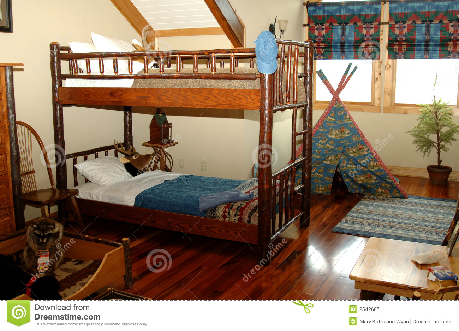 Chambre coucher rustique de jeunes gar ons photographie for Achat de chambre a coucher