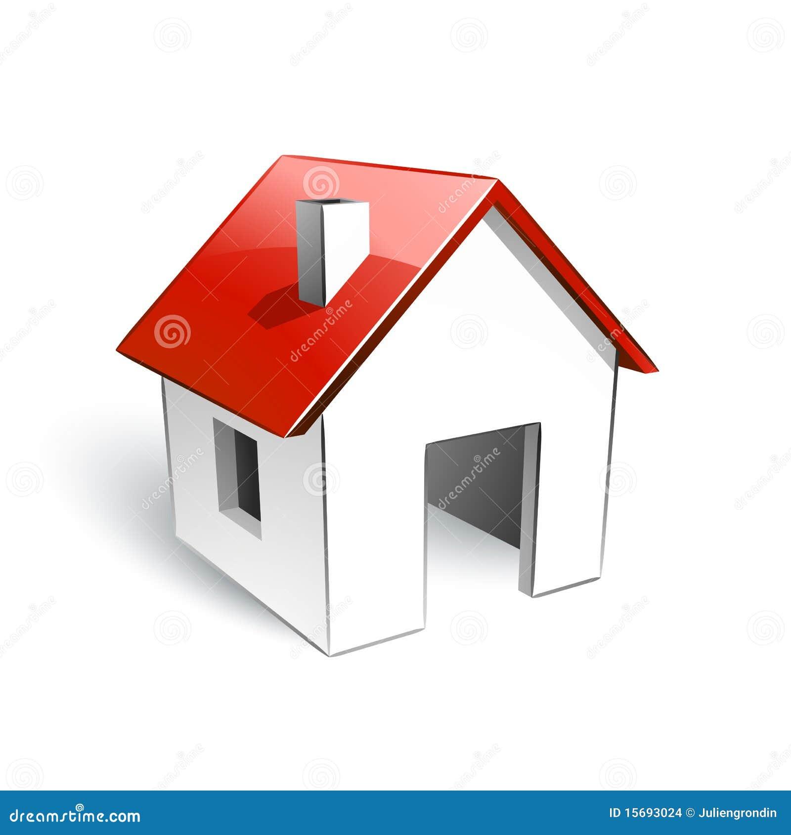 Chambre avec le toit rouge