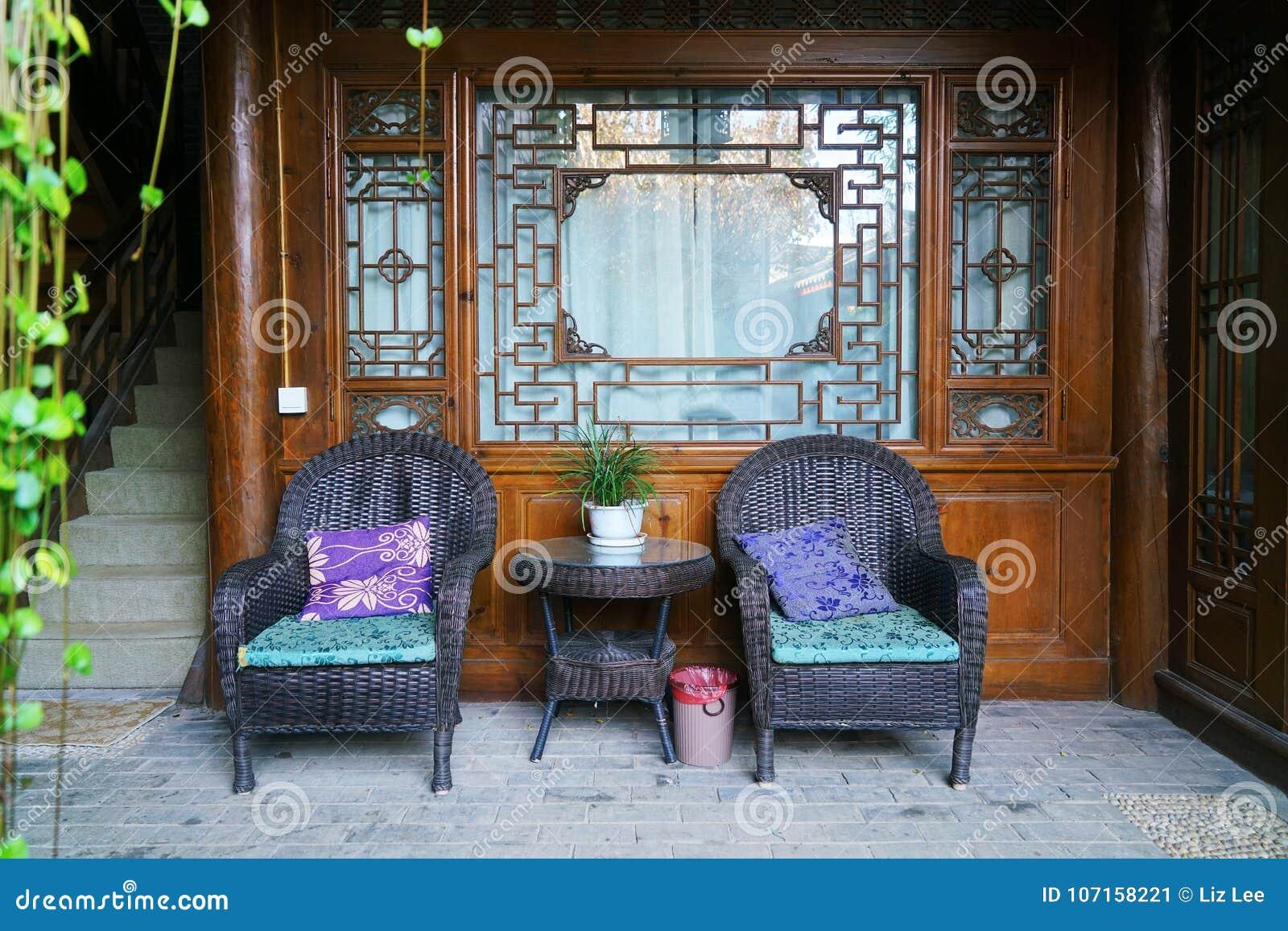 Chambre Chinoise Dans La Vieille Ville De Shuhe Photo ...