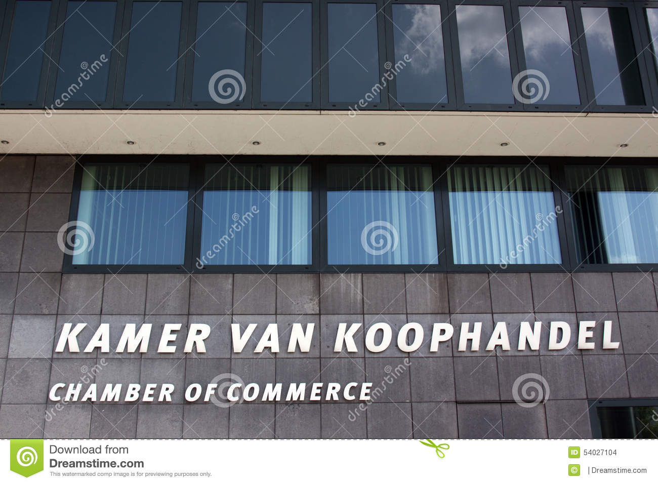 Chambre of commerce in the hague editorial stock image for Chambre commerce international