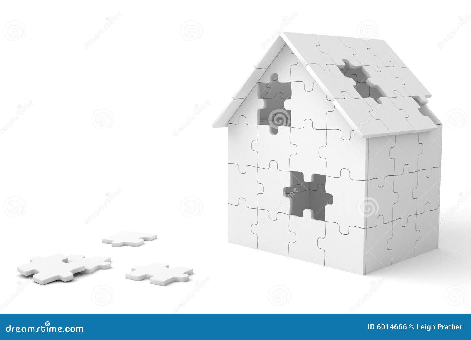 Chambre construite hors des parties de puzzle