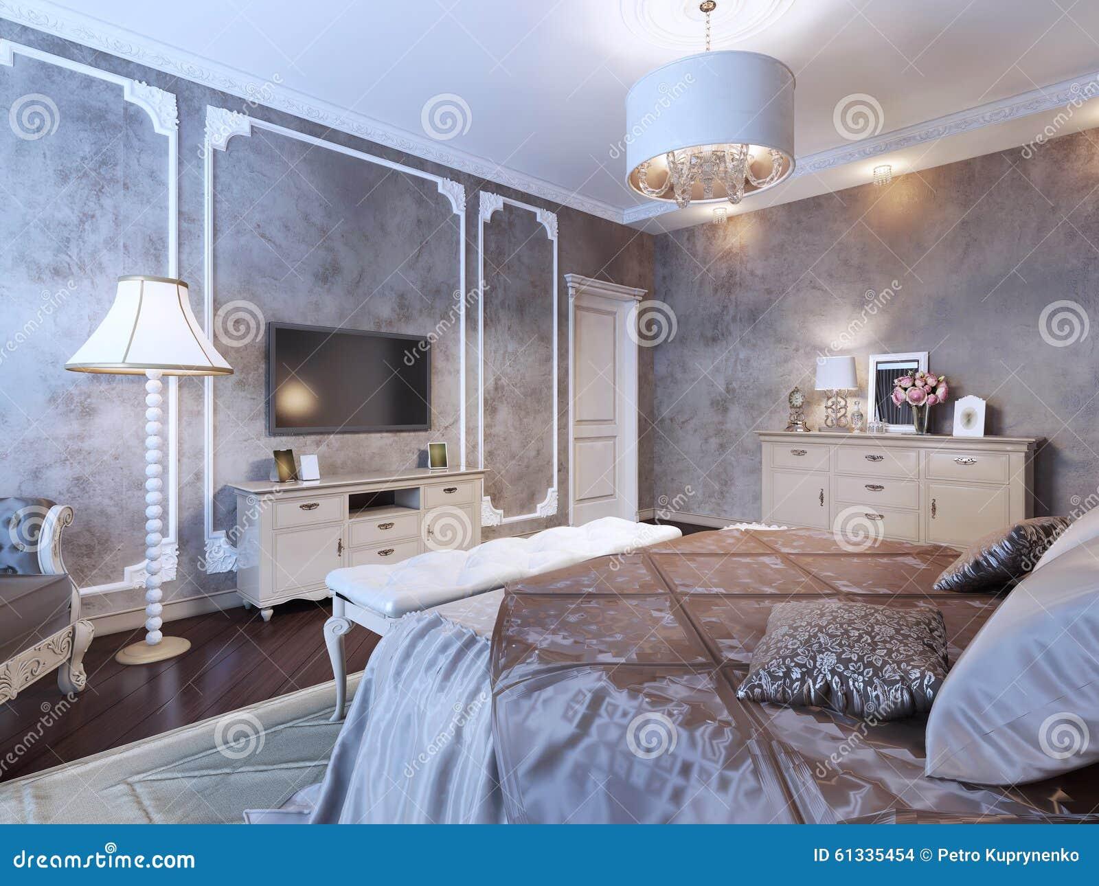 chambre coucher avec le papier peint fonc. Black Bedroom Furniture Sets. Home Design Ideas