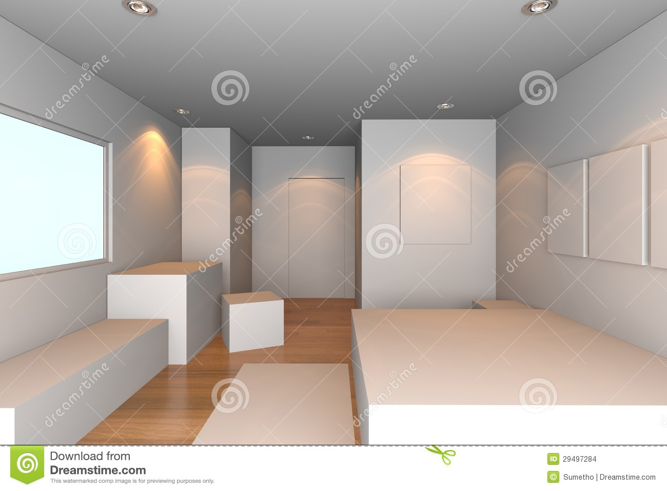 Chambre coucher blanche images stock image 29497284 for Chambre a coucher blanche