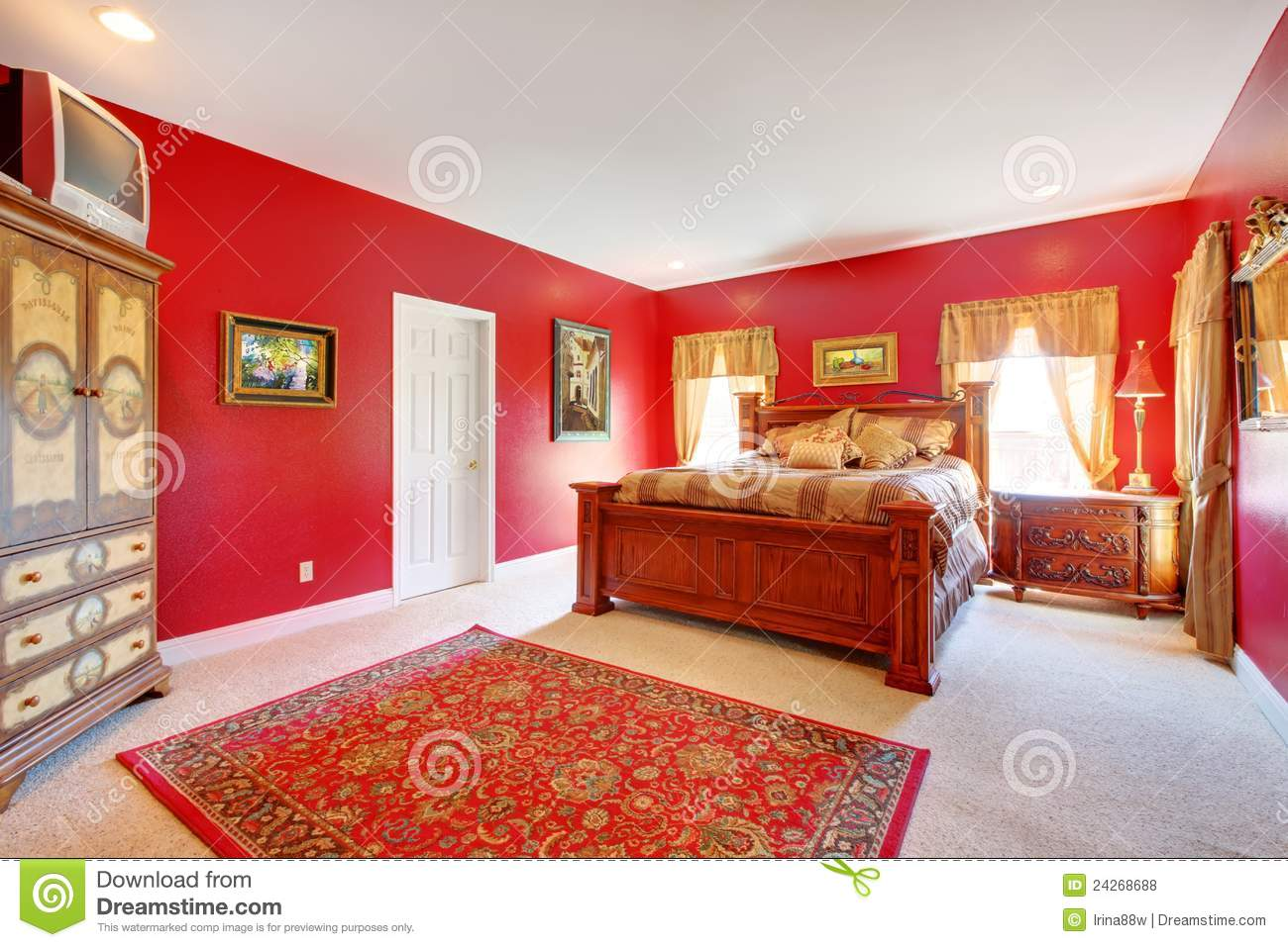 Best chambre a coucher rouge et beige 2 images for Chambre rouge