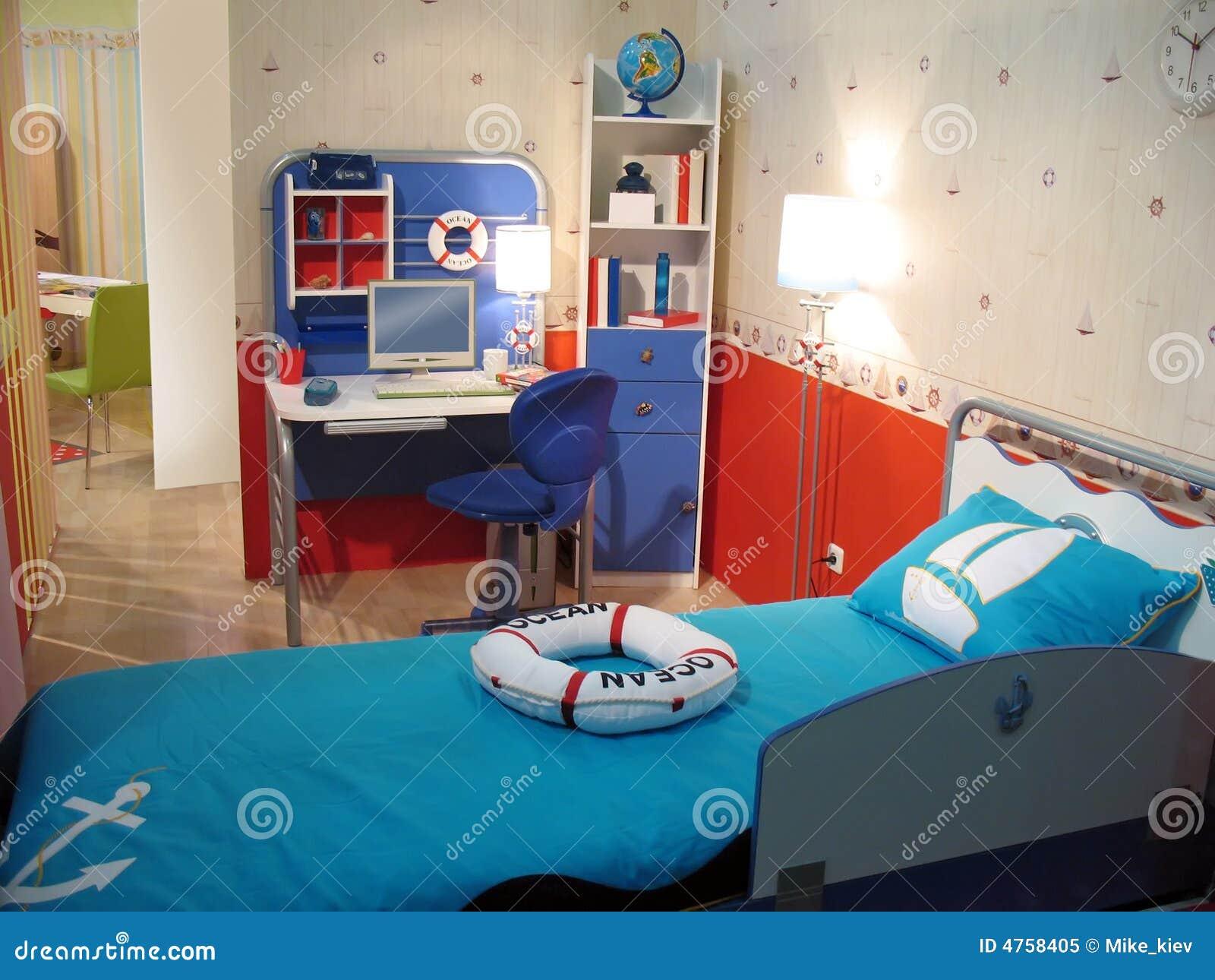 Chambre à coucher d'enfant photo libre de droits   image: 4758405