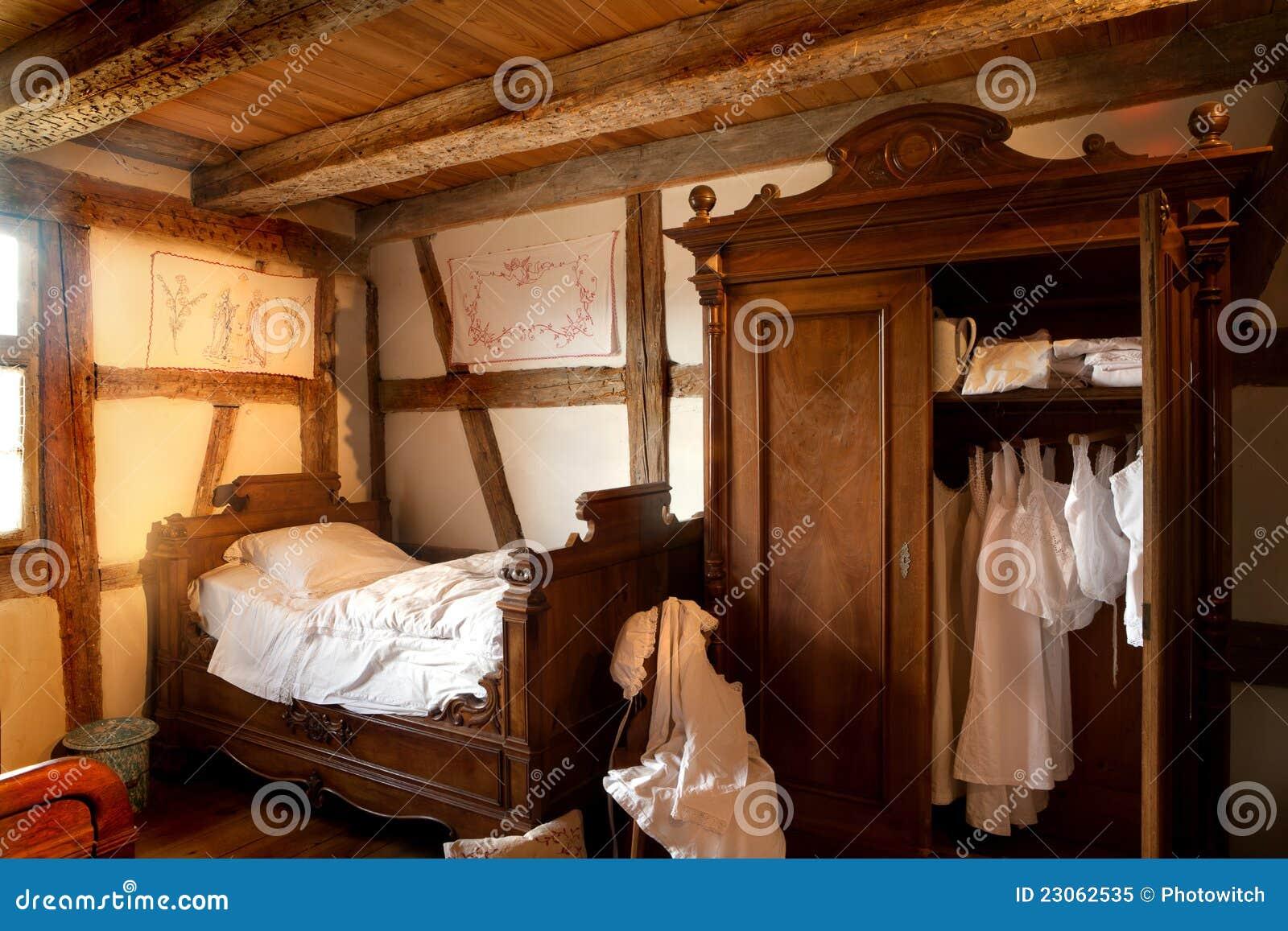 Chambre coucher de 19 me si cle photo libre de droits for Chambre libre