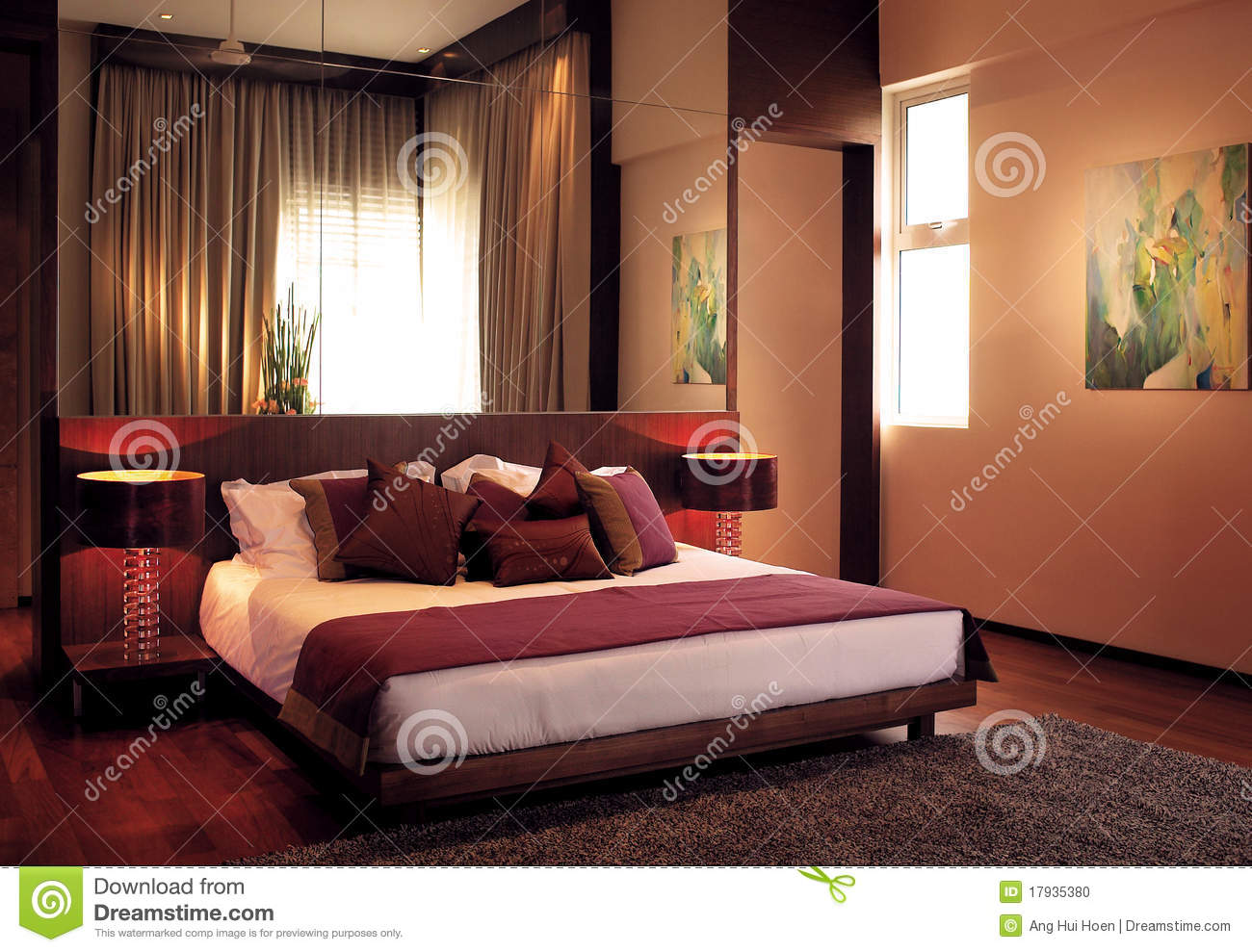 chambre coucher de luxe photo stock image 17935380. Black Bedroom Furniture Sets. Home Design Ideas