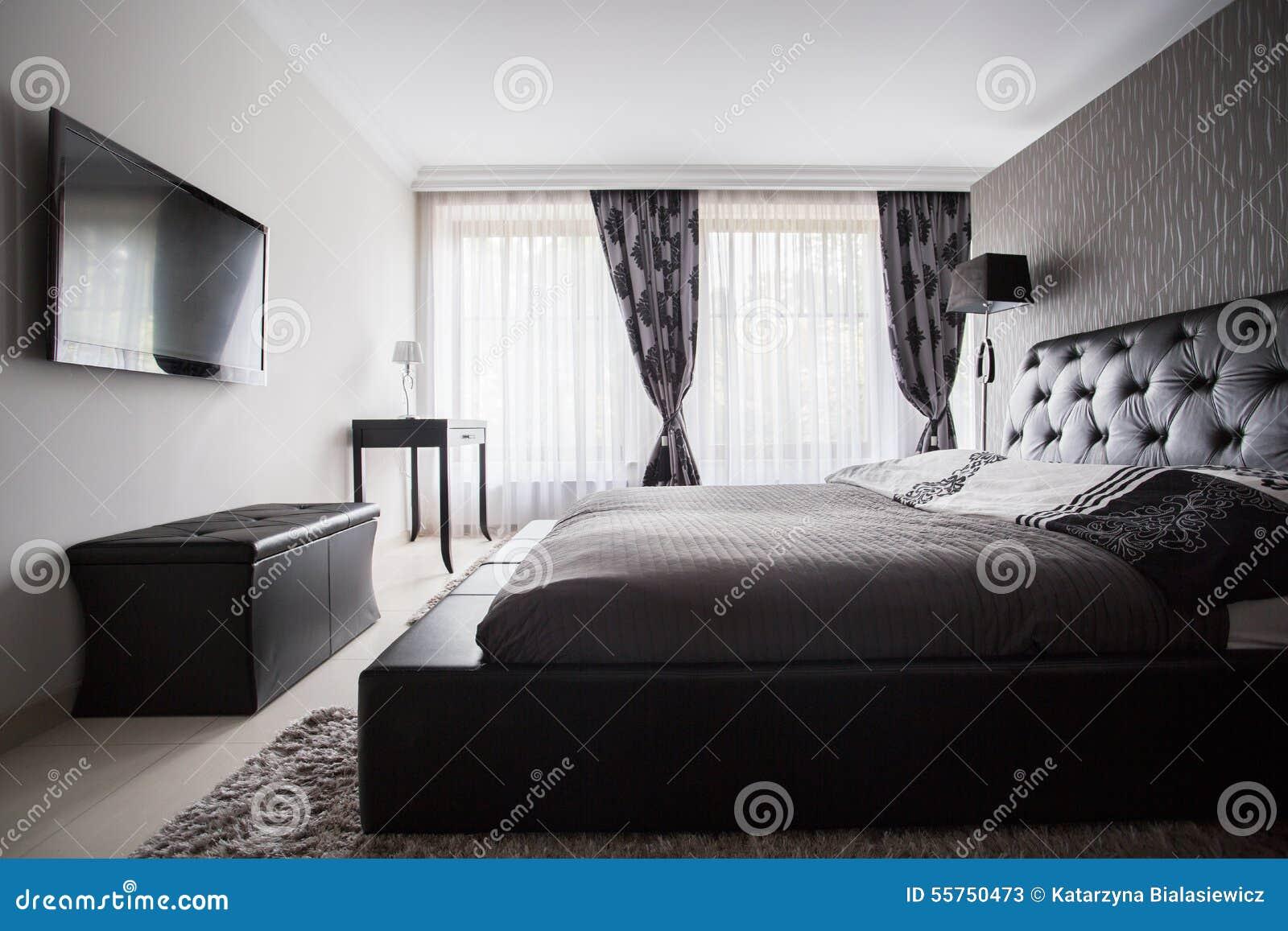 Awesome chambre a coucher gris et noir pictures design for Chambre grise et blanche