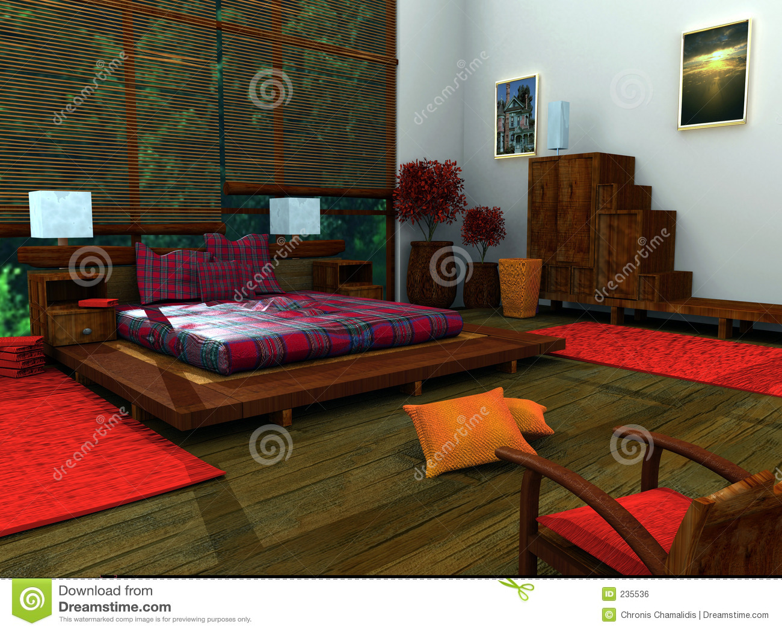 Chambre à Coucher Ethnique Image libre de droits  Image