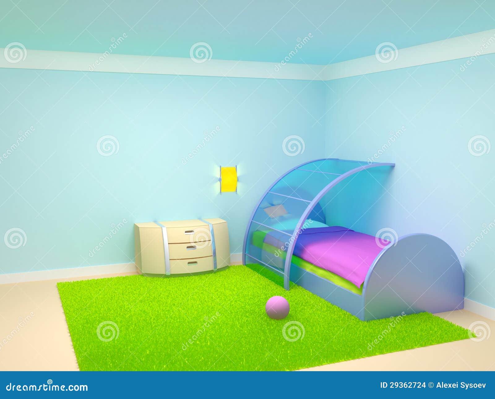 chambre coucher futuriste d 39 enfant images stock image. Black Bedroom Furniture Sets. Home Design Ideas