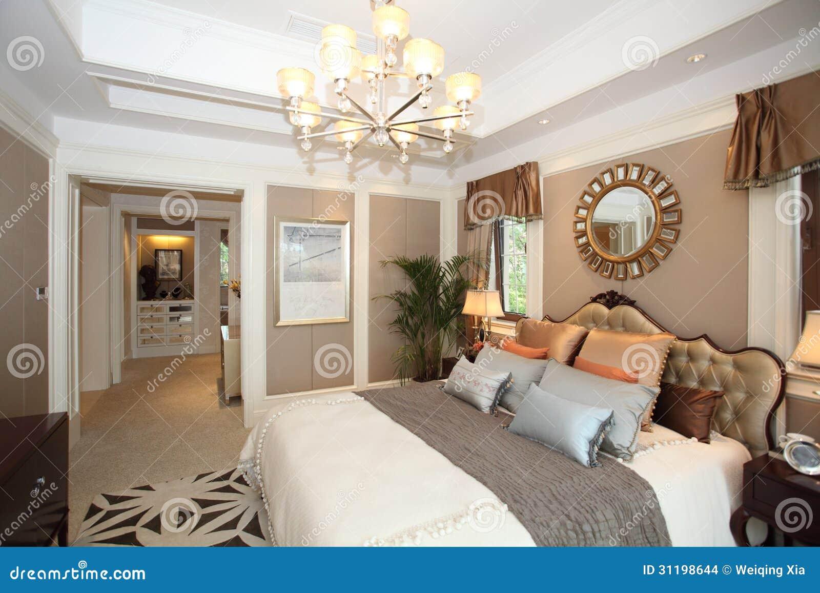 Chambre coucher la maison de luxe images stock image for Chambre de luxe