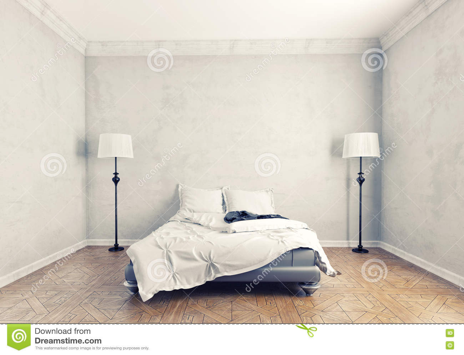 Chambre coucher moderne images libres de droits image 29199359 for Photo chambre a coucher moderne
