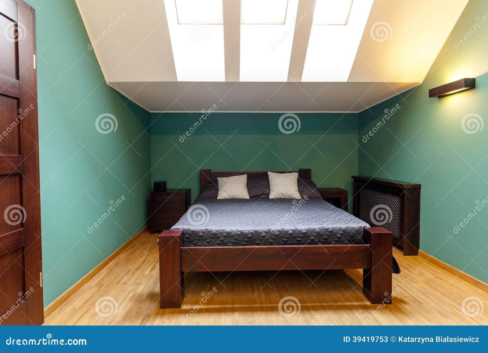 Chambre à coucher moderne dans des couleurs de turquoise photo ...