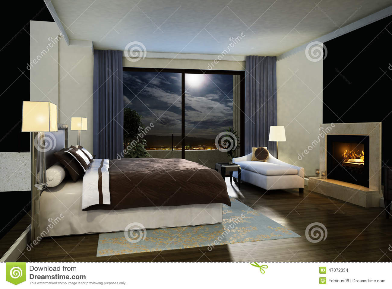 Chambre à coucher moderne photographie stock   image: 14696482