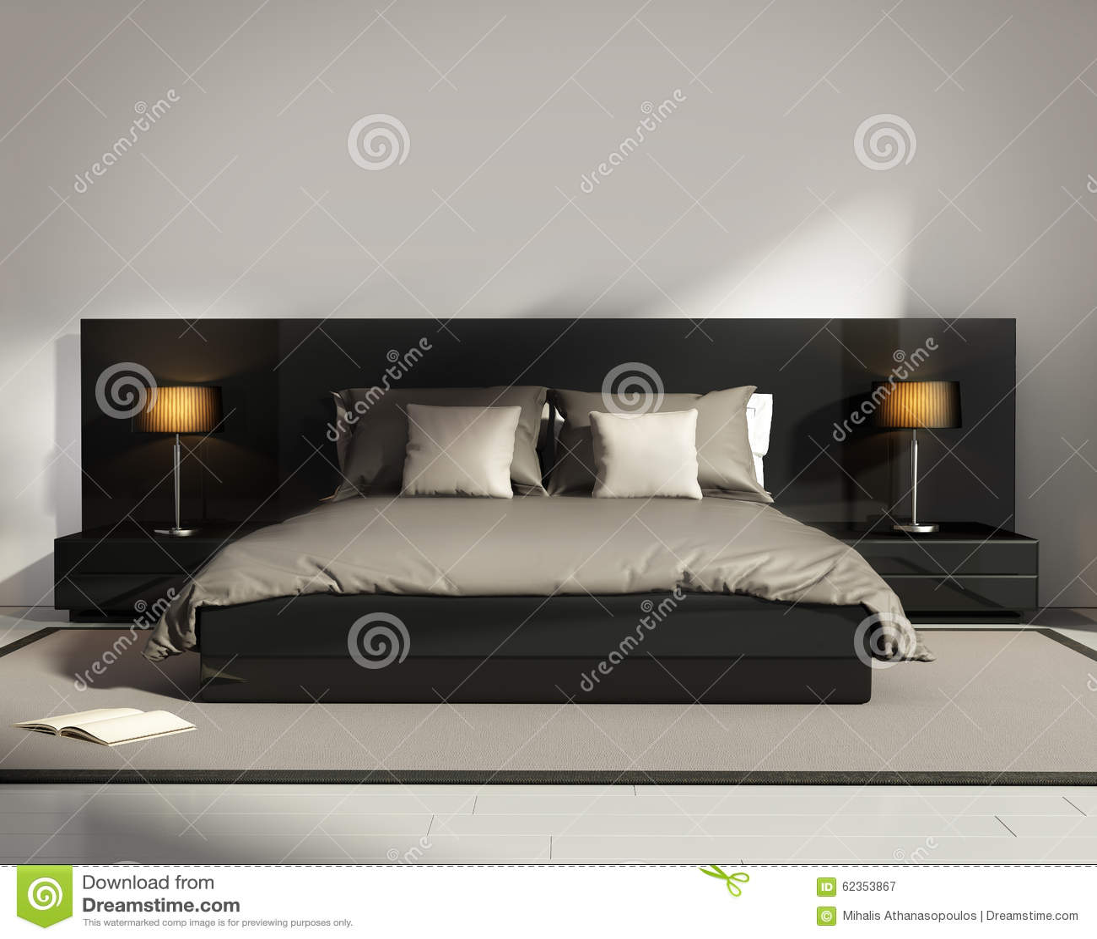 chambre beige fonce