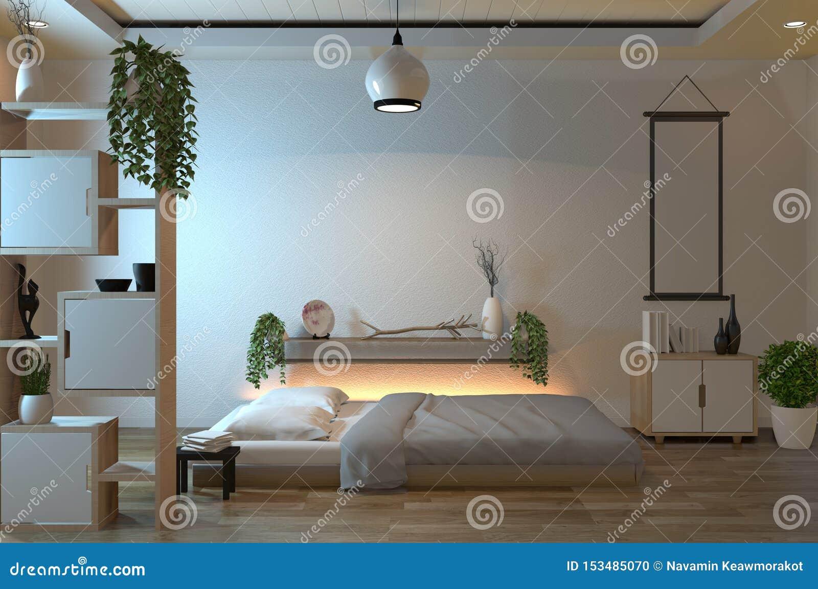 Chambre ? Coucher Paisible Moderne Zen Moderne De Chambre à ...