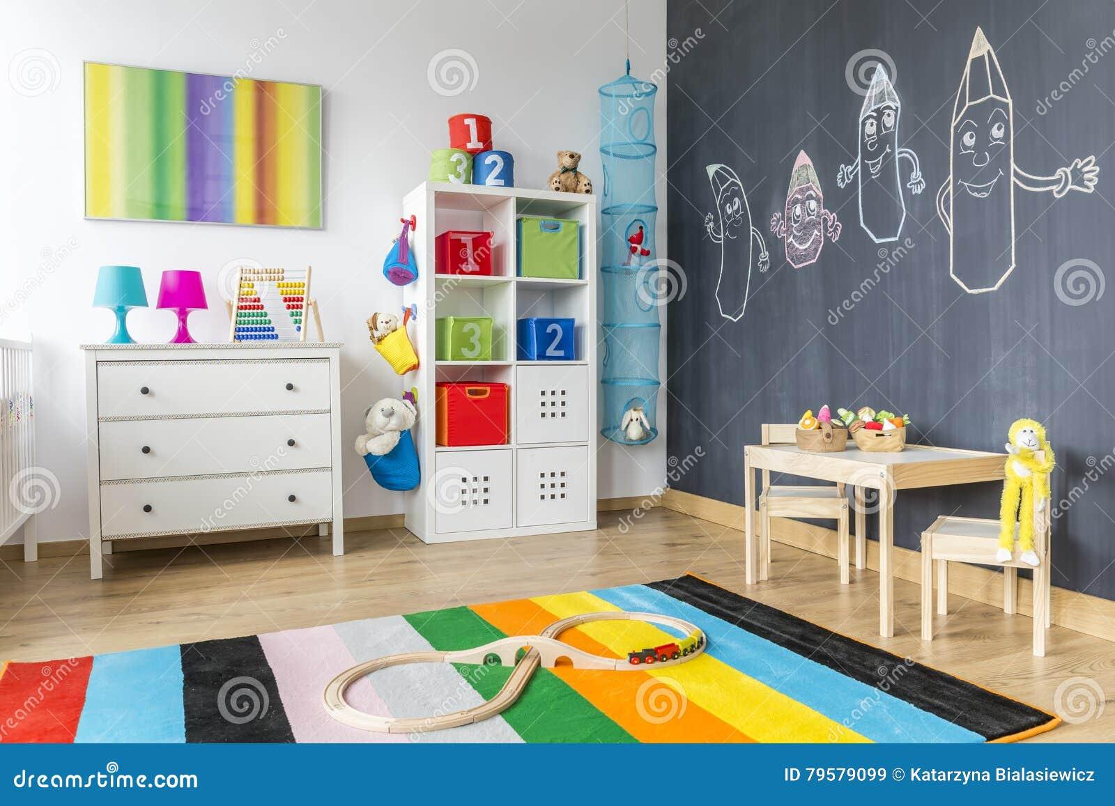 Chambre D\'enfant Avec La Couverture Colorée Image stock - Image du ...