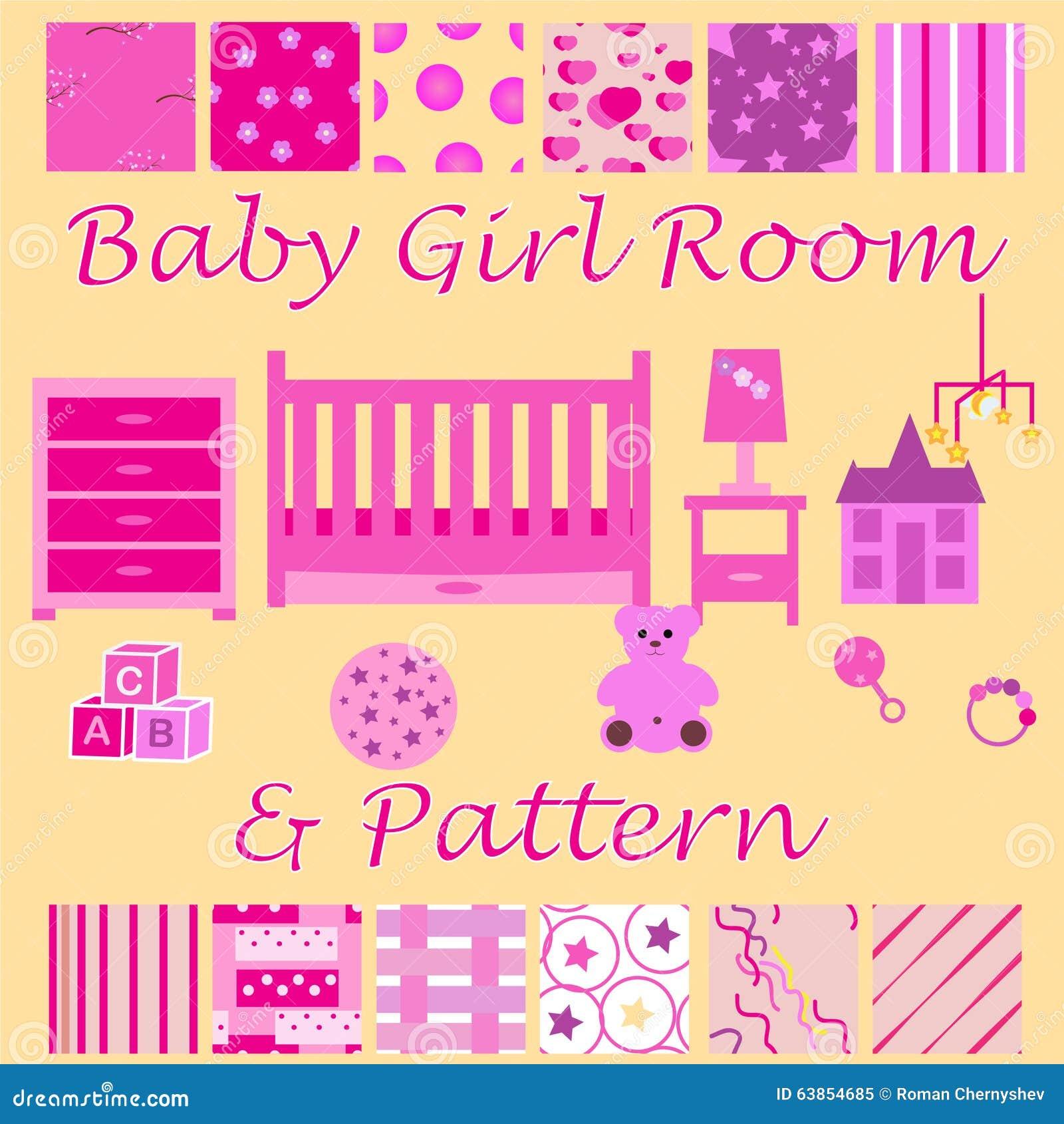 Chambre D\'enfant Pour La Fille Nouveau-née Chambre à Coucher ...